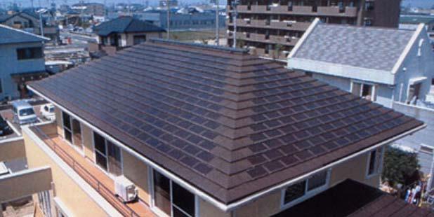 Крыша из солнечных батарей